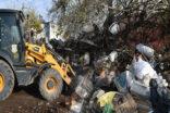Bir evden tonlarca çöp çıktı