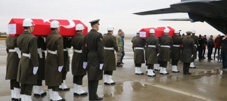 Telabyad'ta şehit olan askerler memleketlerine uğurlandı