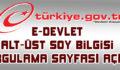 E-Devlet Alt-Üst Soy bilgisi sorgulama sayfası açıldı
