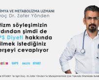 Biyokimya ve Metabolizma Uzmanı Doç Dr. Zafer YÖNDEN'e GAPS Diyetini Sorduk?