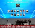 AK parti  Başkan adayı Beyazgül'den manifesto açıklaması;