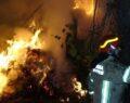 Çiftlik yangınında 15 büyükbaş hayvan telef oldu