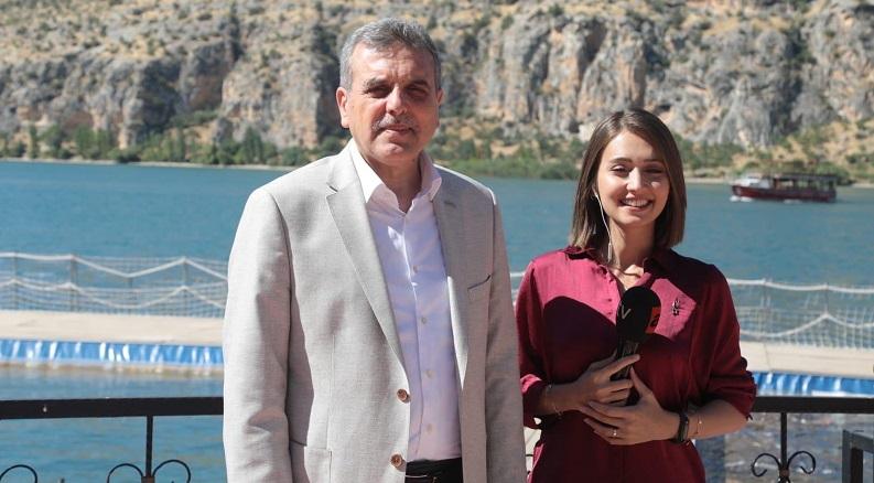 Beyazgül, özel bir televizyon kanalında Şanlıurfa'yı anlattı