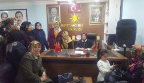 Ak Parti kadın kolları yönetim kurulu üyeliği aday mülakatları yapıldı