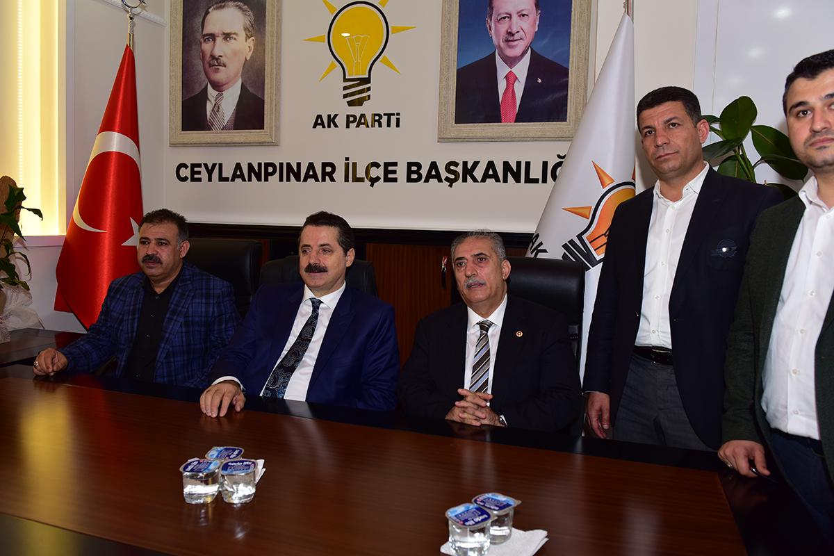 Faruk Çelik'ten Ceylanpınar Ak Parti İlçe Başkanlığı'na ziyaret