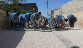 Eyyübiye kırsalında yol yapımı sürüyor