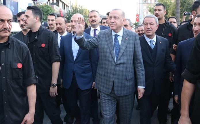 Cumhurbaşkanı Erdoğan'ın Şanlıurfa'daki temasları