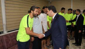 Baydilli'den karaköprü belediyespor'a moral ziyareti