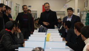 Başkan Kuş, sınavlara hazırlanan gençlerle bir araya geldi