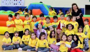 Spor şenliği'nin en küçük katılımcıları