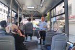 Zabıta ekipleri minibüsleri denetledi