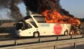 9 yolcusu bulunan otobüste yangın