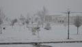 Kar yağışı gün boyu devam etti