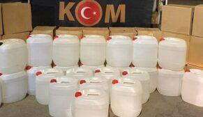 6 ton kaçak etil alkol ele geçirildi