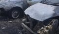 Park halindeki 4 araç kundaklandı