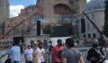 Ayasofya'da turist yoğunluğu