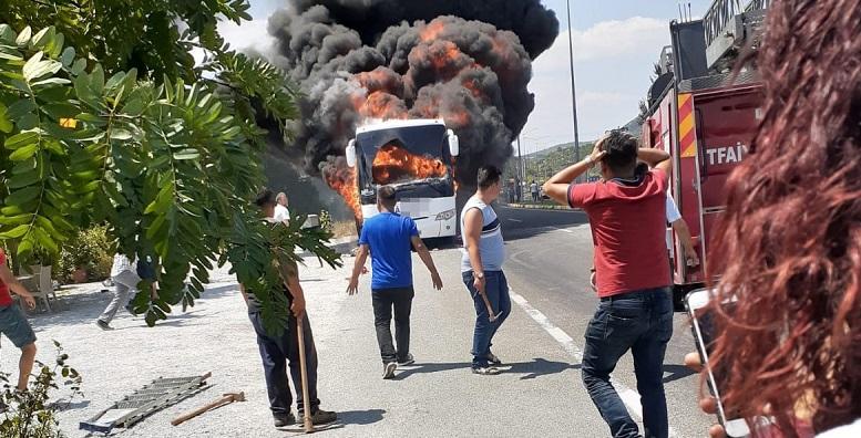 Otobüs alev aldı, çok sayıda ölü ve yaralı var