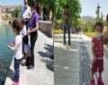 Şanlıurfa'da sokağa çıkan çocuklar Balıklıgöl'e akın ettiler