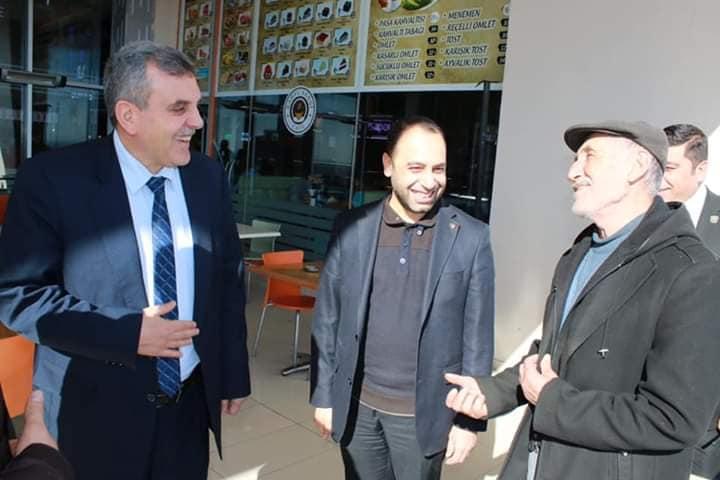 AK Parti adayı Beyazgül vatandaşlarla biraraya gelmeyi sürdüryor