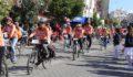 200 bisikletçi troya'dan adramytteion'a selam getirdi