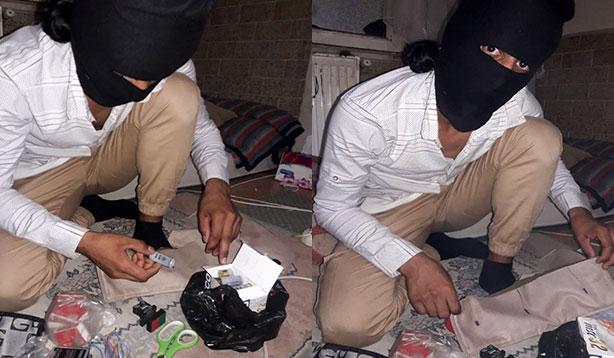 DEAŞ şüphelisinin bomba hazırlığı
