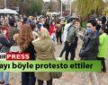 Sosyal mesafe cezasını protesto ettiler