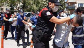 Polisleri yaralayan 6 kişi adliyeye sevk edildi