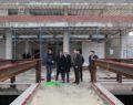 Demirkol, yarı olimpik yüzme havuzunun inşaatını inceledi