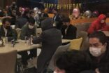 Kaçak doğum günü partisine baskın