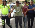 Drift attığı aracı bırakıp kaçmaya çalışan sürücüye ceza