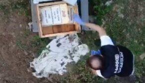 Polis drone ile silah ve uyuşturucu ele geçirdi