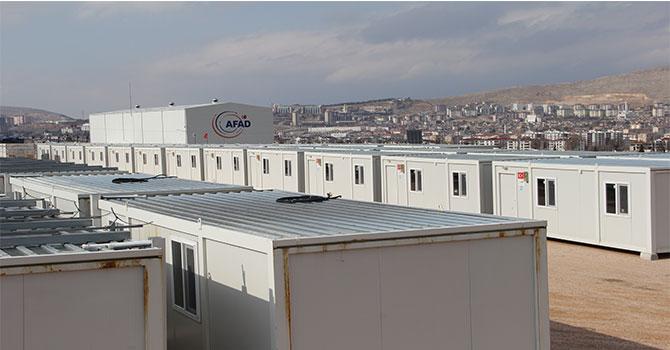 Elazığ'da konteyner kent çalışmaları devam ediyor