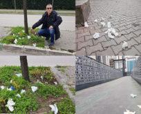 Sokaklardaki eldiven ve maskeler tehlike kaynağı