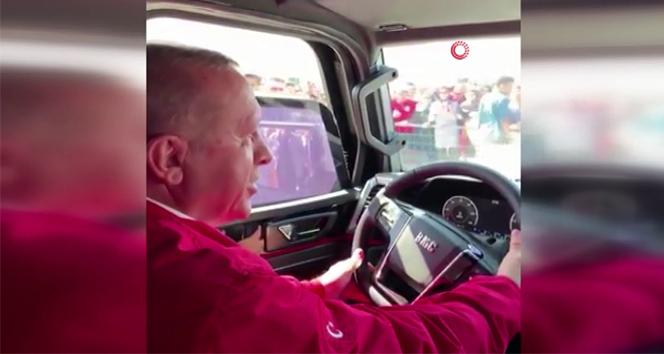 Cumhurbaşkanı Erdoğan yerli pikap aracı kullandı