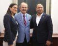 Türkiye'nin ilk roman milletvekili'nden başkan Büyükerşen'e ziyaret