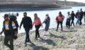 Şanlıurfa'nın Fırat nehrinde doğa yürüyüşü