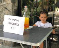 Limonata satarak can dostlara destek oldu