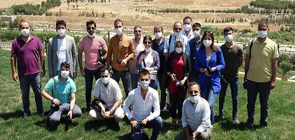 Basın çalışanları belediye projelerini gezdi