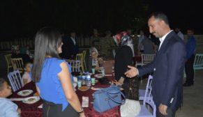 Gaziler ve şehit aileleri yemekte bir araya geldi