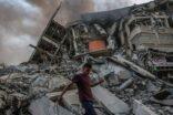 Gazze'nin vurulması sonucu meydana gelen yıkım görüntüleri