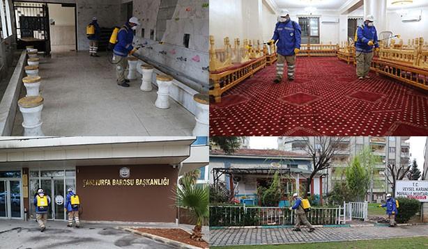 Haliliye Belediyesi'nden ' Korona' çalışması