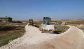 Haliliye'de yol çalışmaları