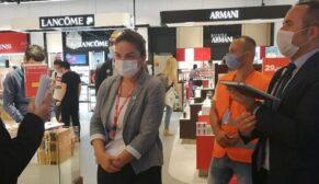 Havalimanı'nda yolcu ve işletmelere virüs denetimi