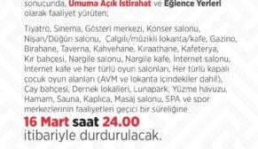 Bütün Türkiye'de korona yasakları bu gece başlıyor