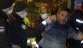 Kısıtlamayı ihlal edip gazetecilere saldırdı