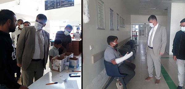 Gülüm, Bozova devlet hastanesinde incelemelerde bulundu