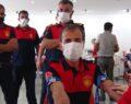 24 itfaiyeci immün plazma bağışında bulundu