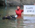 Urfa Barajı altında nefesini depremzedeler için tuttu