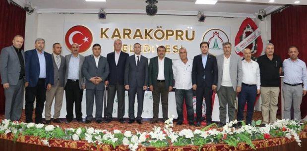 Karaköprü Belediyespor kulüp başkanı Aslan güven tazeledi