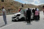 Otomobil kazasında kadının kolu koptu